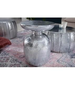 Stolik Kawowy Orient 36 Cm W Kolorze srebrnym do salonu