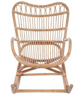 Fotel bujany rattanowy naturalny na taras
