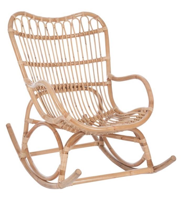 Fotel bujany rattanowy naturalny