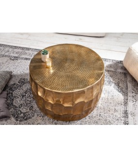 Stolik kawowy Kerrasch 70 cm złoty do salonu