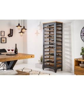 Praktyczna industrialna szafka na wino do salonu lub pokoju