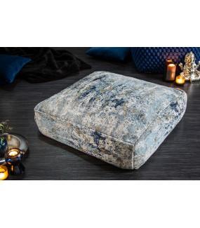 Pufa na podłogę Abstrakt 70 cm niebiesko beżowa