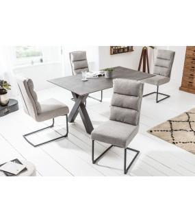 Krzesło Comfort jasnoszare do salonu