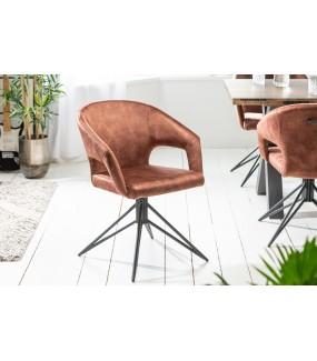 Krzesło obrotowe Etna brązowe