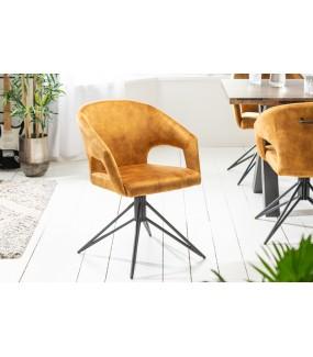 Krzesło Obrotowe Etna musztardowo-żółte