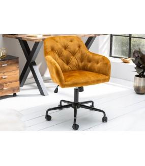 Krzesło Biurowe Dutch Comfort musztardowy żółty