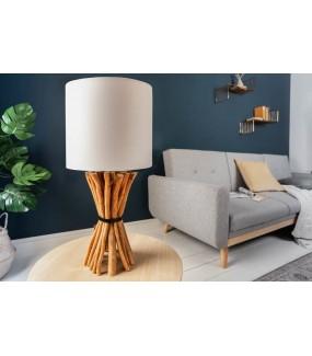 Lampa stołowa Epria 54 cm longan naturalna