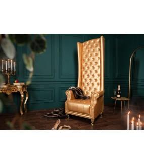 Fotel Royal złoty
