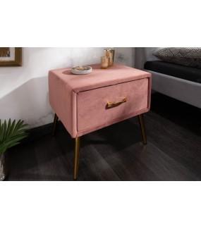 Szafka nocna Famous 45 cm velvet różowa