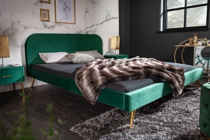 Łóżko MATYLDE 140 Cm X 200 Cm Szmaragdowo Zielony