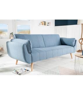 Sofa Rozkładana BELLA 215 Cm Jasnoniebieska