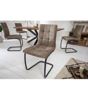 Krzesło GASPAR  vintage szarobrązowe