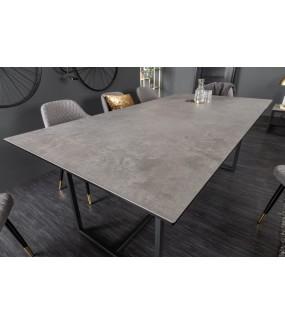 Stół SZMARAGD 200 w optyce betonu do salonu