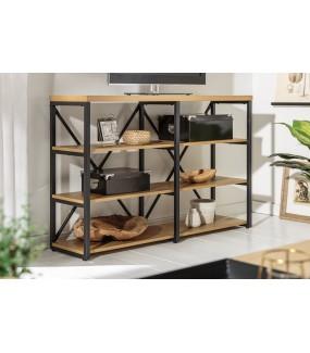 Regał JOVAN 110 Cm Idealnie sprawdzi się w biurze lub pokoju młodzieżowym. Pięknie zaaranżuje wnętrze pokoju loft.