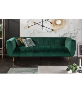 Sofa Scarlett 225 cm szmaragdowa zieleń