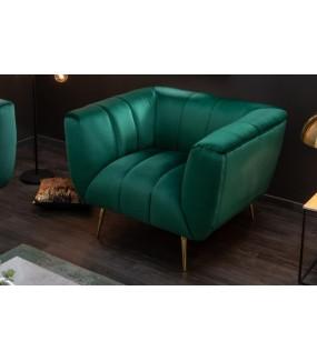 Fotel Scarlett szmaragdowo zielony