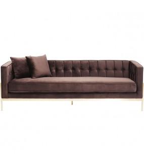 Sofa Loft 3-osobowa brązowa