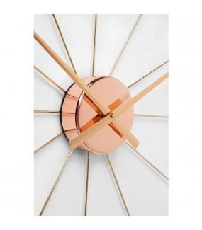Zegar ścienny  Umbrella różowo-złota