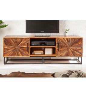 Praktyczny stolik kawowy z drewna mango do rustykalnego salonu. Sprawdzi się w pokoju w stylu loft.
