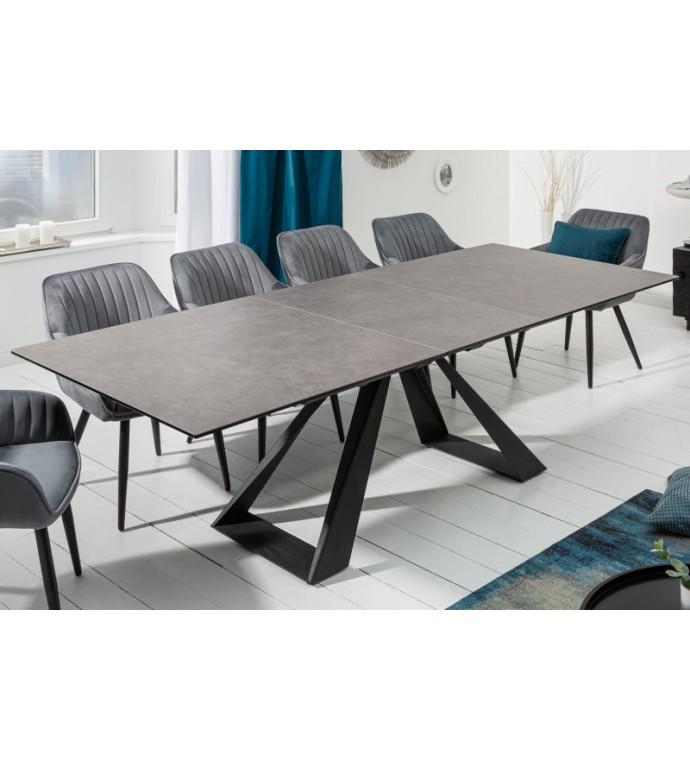 Stół rozkładany TORONTO 180 cm - 230 cm ceramika szary