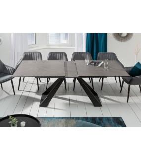 Stół rozkładany TORONTO 180 cm - 230 cm ceramika szary do salonu