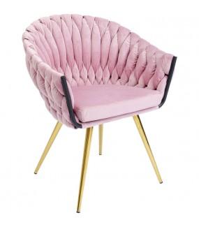 Krzesło  Knot Muave różowe do salonu