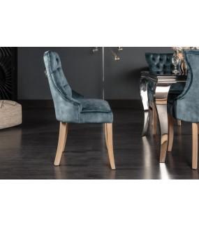 Krzesło LORENA w odcieniach niebieskiego