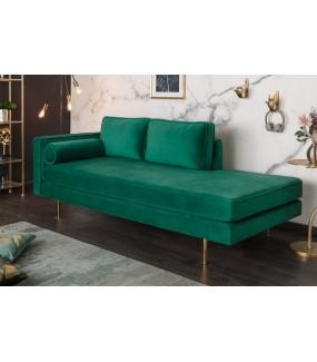 Sofa Diana 196 cm szmaragdowozielony aksamit