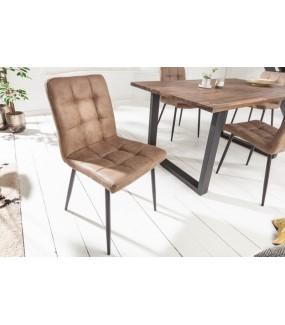 Krzesła GASPAR szarobrązowe