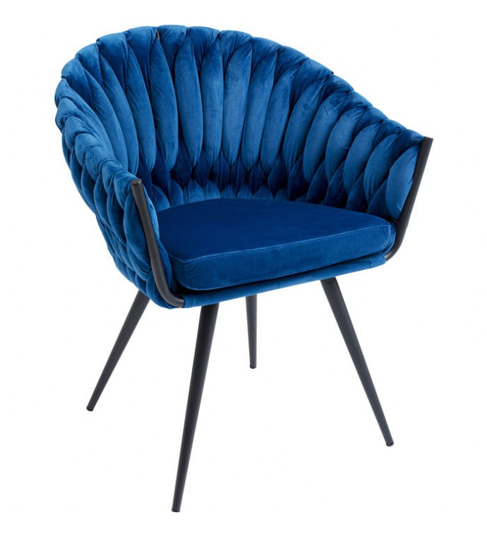 Krzesło Knot niebieskie do salonu