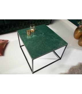 Stolik kawowy GORAN 50 cm marmur zielony