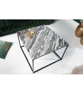 Stolik Kawowy GORAN 50 Cm Marmur Szary