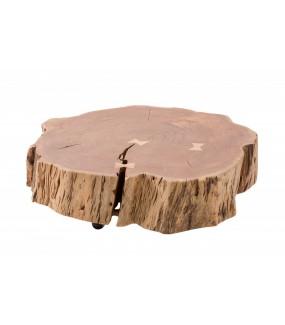 Stolik kawowy NERON 80 cm akacja naturalna do salonu