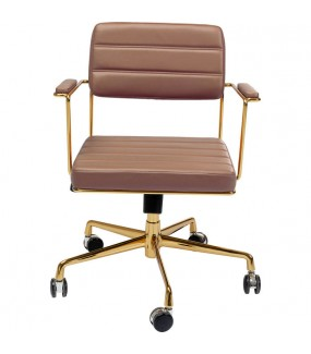 Krzesło biurowe Dottore brązowe