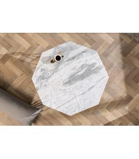 Stolik Kawowy GORAN II 69 Cm Marmur biały
