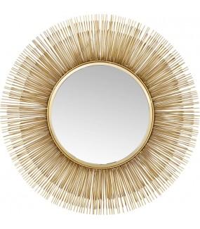 Lustro Sunburst 87 cm złote do salonu