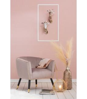 Fotel Emy różowy