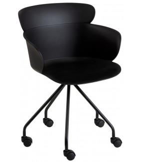 Fotel biurowy Eva czarny