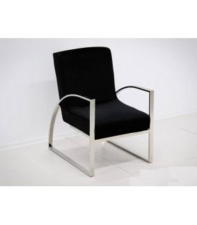 Fotel OXANA Modern Barock Czarny do salonu