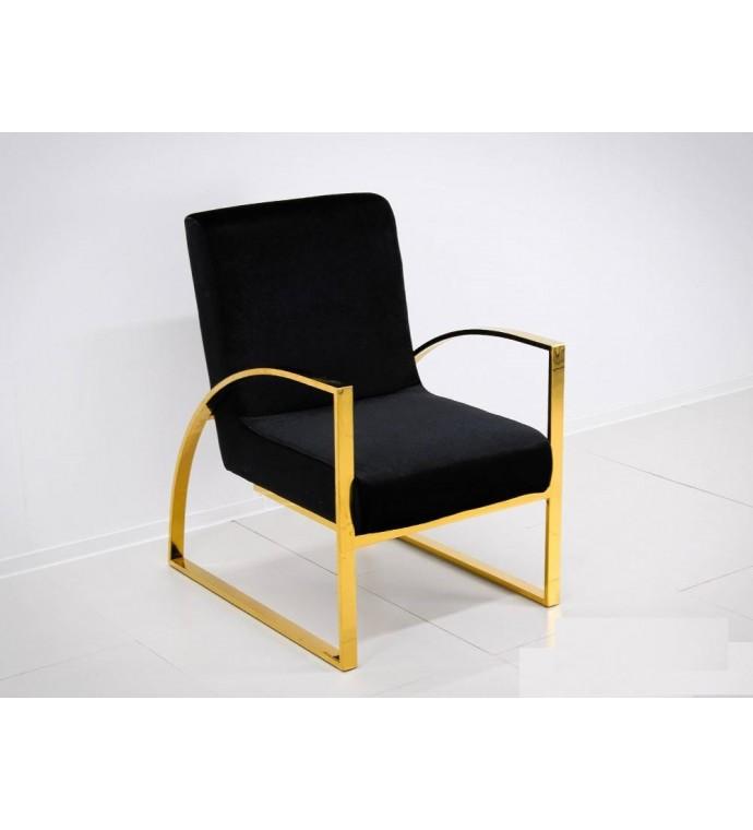 Fotel OXANA Modern Barock ze złotymi nogami