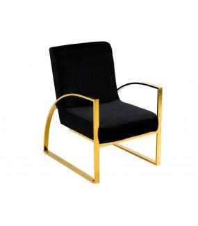 Fotel OXANA Modern Barock ze złotymi nogami do salonu