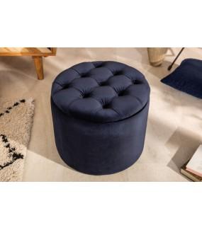 Pufa FABIO II 50 cm ciemnoniebieski do salonu w stylu glamour. Idealna do nowoczesnego pokoju.