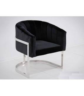 Fotel OXANA Modern Barock Czarny