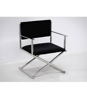 Fotel OXANA srebrno-czarne