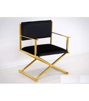 Fotel OXANA złoto-Czarny
