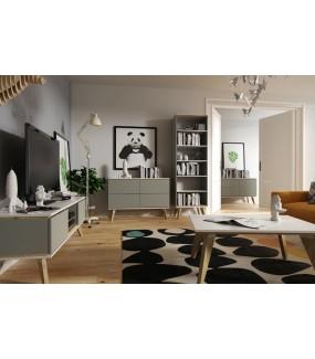 Szafka RTV SCANE szara 50 cm marki SCANDICA do salonu w stylu nowoczesnym.