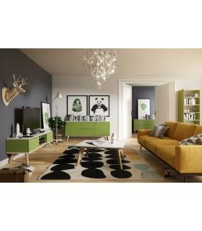 Regał SCANE Zielony 190 Cm do pokoju w stylu nowoczesnym.