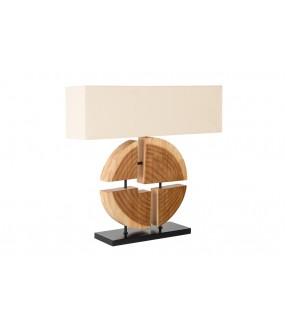 Lampa stołowa Organic Artwork 80 cm beżowa do salonu w stylu boho. Idealna do pokoju dziennego w stylu skandynawskim.
