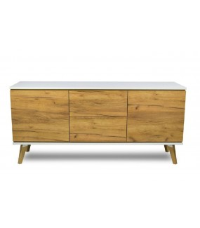Komoda SCANE  Złoty dąb 160 cm w stylu skandynawskim do salonu