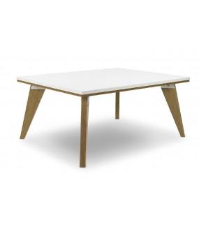 Stolik kawowy SCANE 90 cm biały w stylu skandynawskim
